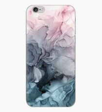 Vinilo o funda para iPhone Blush y Payne's Gray Flowing Abstract Painting