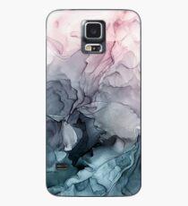 Blush und Paynes graue fließende abstrakte Malerei Hülle & Klebefolie für Samsung Galaxy