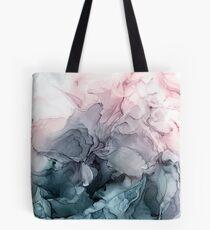 Bolsa de tela Blush y Payne's Gray Flowing Abstract Painting