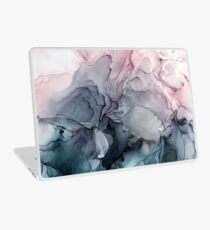 Vinilo para portátil Blush y Payne's Gray Flowing Abstract Painting