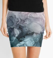 Minifalda Blush y Payne's Gray Flowing Abstract Painting