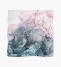 Blush und Paynes graue fließende abstrakte Malerei Tuch