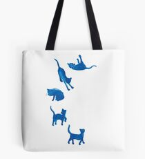 Blue Cats Tote Bag