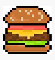 Hamburger Pixel Art Mural Redbubble