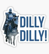 Dilly Dilly The Bud Knight Superbowl 2018 Sticker