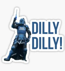 The Bud Knight Dilly Dilly Superbowl 2018 Sticker