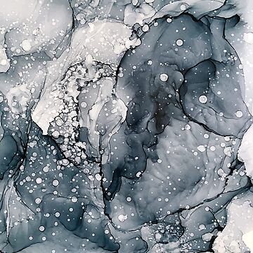 Icy Payne's Grey Abstract Bubble / Snow Painting by LSchulz19