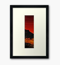 And The Devil Weeps Tonight Framed Print