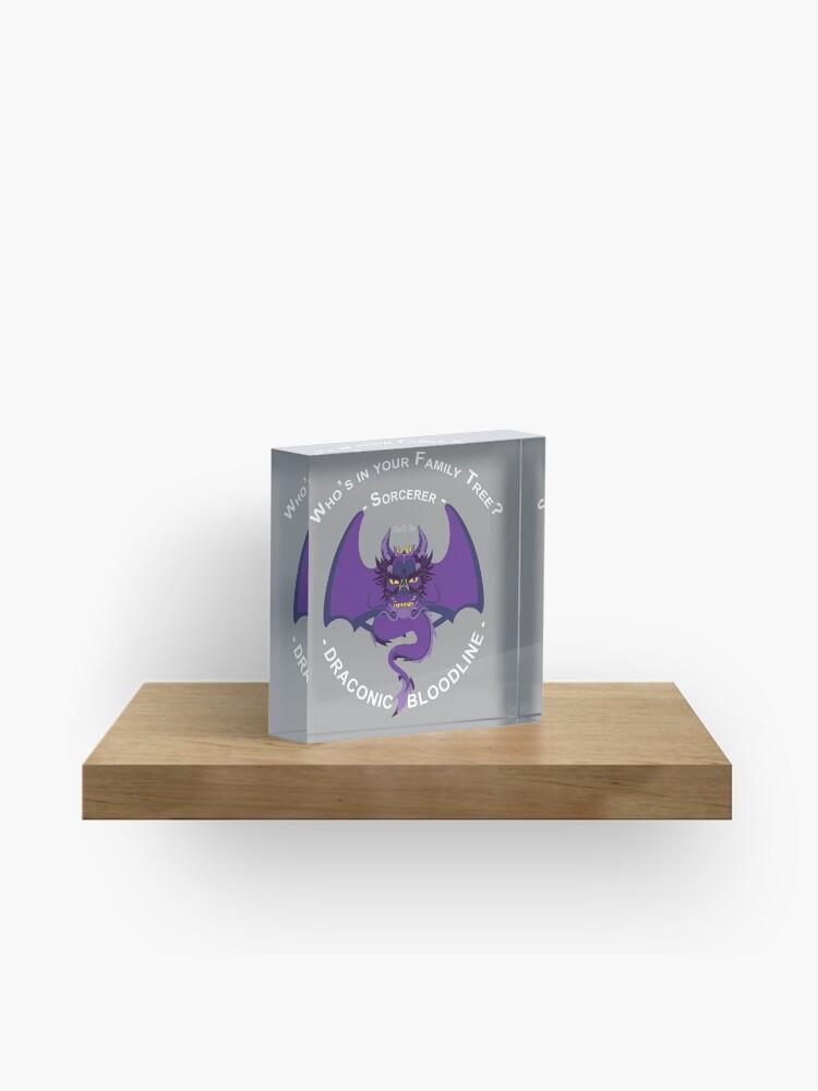 D&D Sub-Classes: Draconic Bloodline Sorcerer | Acrylic Block