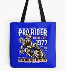 Reunion Pro Rider Extreme Sport 1977 Sunday, Dec 9th, 1977 - Freestyle International Show Tote Bag