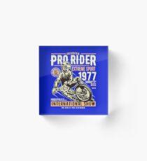 Reunion Pro Rider Extreme Sport 1977 Sunday, Dec 9th, 1977 - Freestyle International Show Acrylic Block