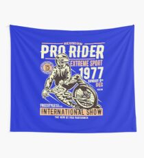 Reunion Pro Rider Extreme Sport 1977 Sunday, Dec 9th, 1977 - Freestyle International Show Wall Tapestry