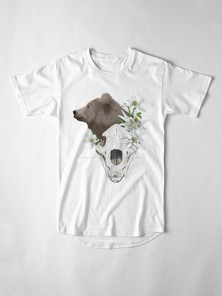 Alternate view of Skull - The bear Long T-Shirt