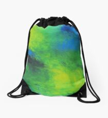 In The Garden ~ Original Acrylic Abstract Painting Drawstring Bag