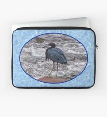 Little Blue Heron at the River Laptop Sleeve