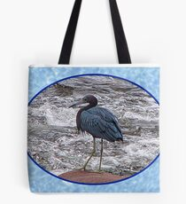 Little Blue Heron at the River Tote Bag
