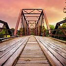 Old Steel Bridge at Sunset by Pamela Maxwell