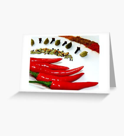 Indian for dinner... Greeting Card