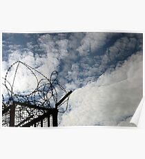 Barbwire / Blue Sky Poster