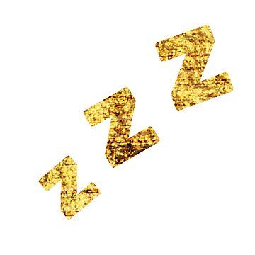 Zzzs in Gold by KirstenJRenfroe