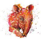« Tapir en couleur » par PerenArt