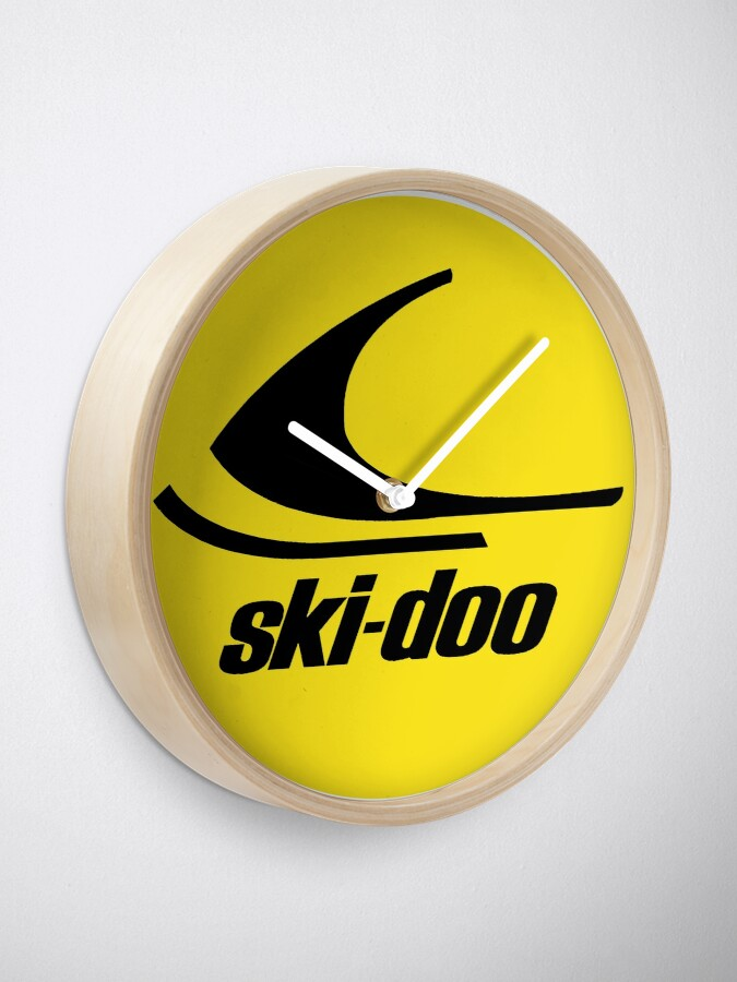 Alternate view of Ski Doo vintage Snowmobiles Clock