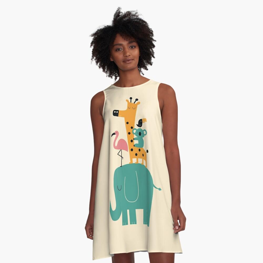 Weitergehen A-Linien Kleid