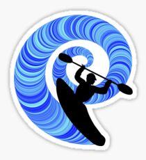 Kayak Swirl Sticker
