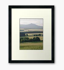 Bennachie and Barley 2 Framed Print