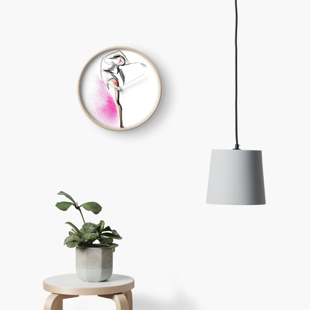 Expressive Dance Drawing Clock