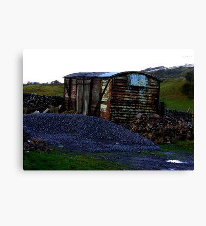 Abandoned Rail Wagon Canvas Print