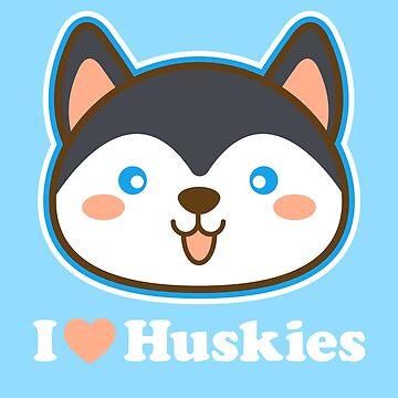 I Love Huskies by machmigo