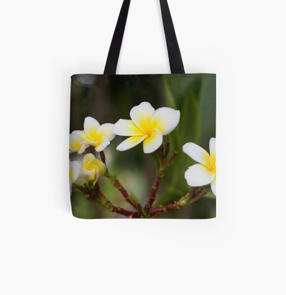 Frangipani leelawadee flowers All Over Print Tote Bag