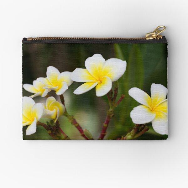 Frangipani leelawadee flowers Zipper Pouch