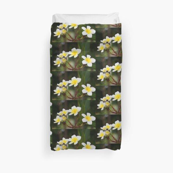 Frangipani leelawadee flowers Duvet Cover