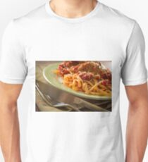 Chicken Parmesan with Linguine Unisex T-Shirt