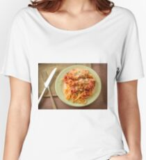 Chicken Parmesan with Linguine Women's Relaxed Fit T-Shirt