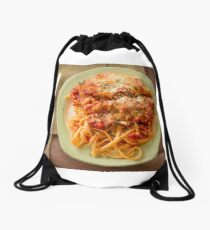 Chicken Parmesan with Linguine Drawstring Bag