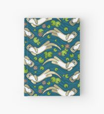 Otter and Water Lily Hardcover Journal