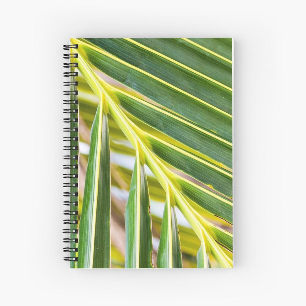 Green palm tree branch Spiral Notebook