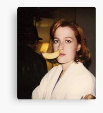 Gillian Anderson Banana Canvas Print