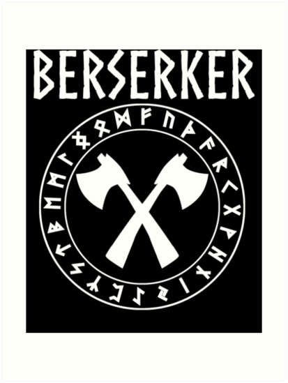 Viking Berserker Art Prints By Warlordapparel Redbubble