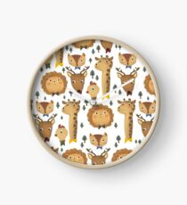Forest Formal   Cute animal character pattern Clock