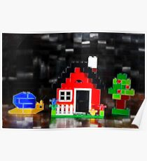 Lego House with Accessories Poster