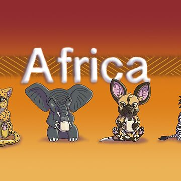 African Animal Cup by Bamsdrawz