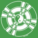 Mandala 42 Yin-Yang Simply White  by sekodesigns