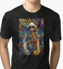 Funky singer rainbow abstract Tri-blend T-Shirt