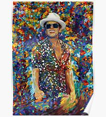 Funky singer rainbow abstract Poster