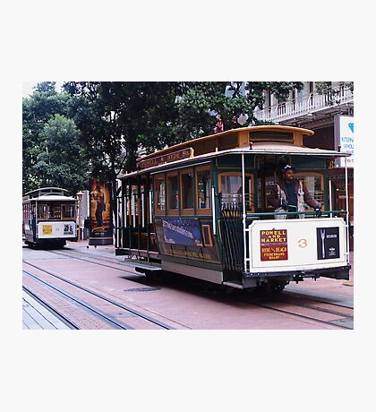 Cable cars at Market and Powell Photographic Print