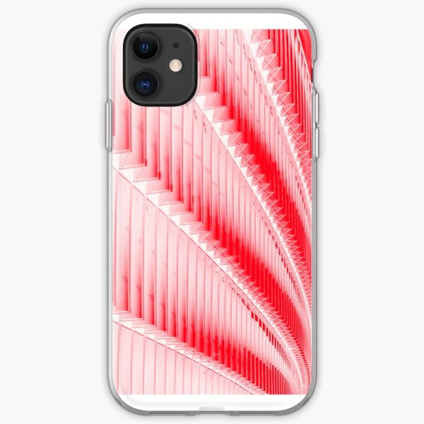 White and red design iPhone Soft Case